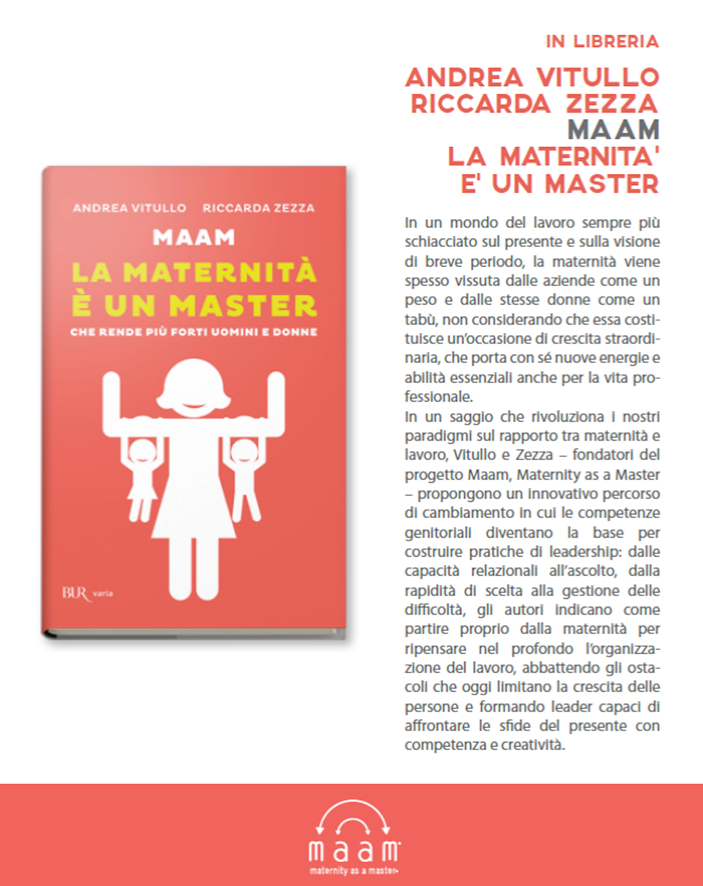 MAAM – maternity as a master