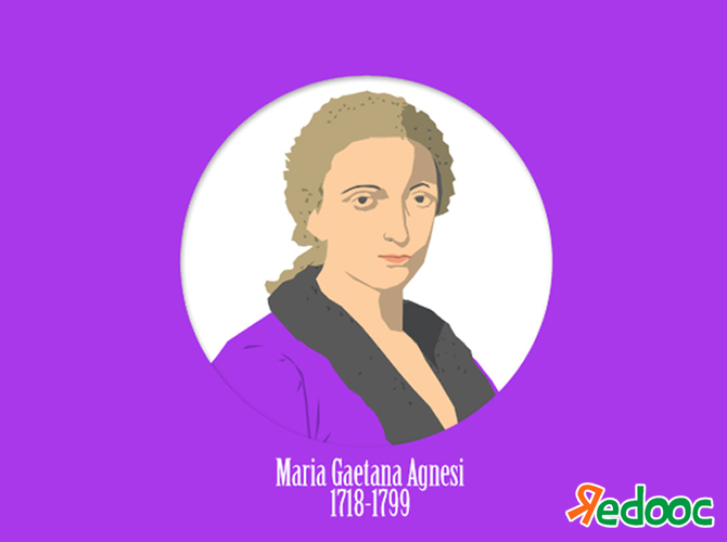 maria gaetana agnesi Maria agnesi was an italian mathematician and scholar whose name is  associated with the curve known as the witch of agnesi.