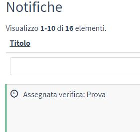 notifica di una verifica