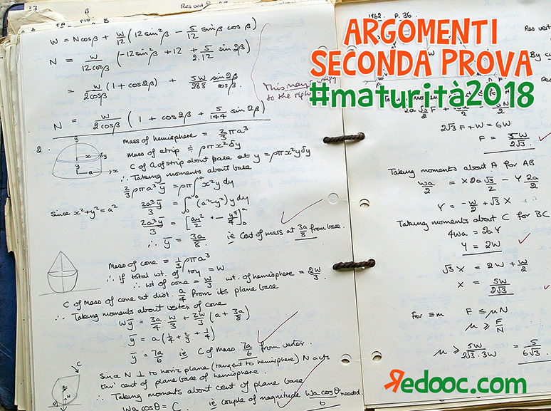 quesiti di matematica seconda prova