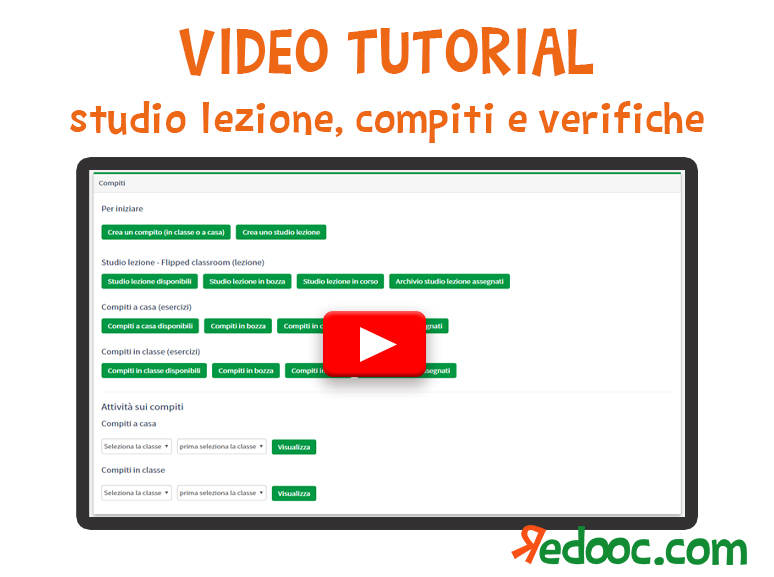 Video tutorial su studi lezione, compiti e verifiche